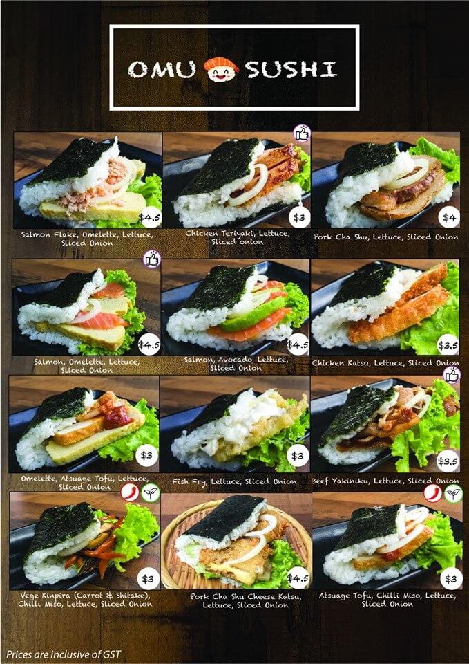 omu sushi menu